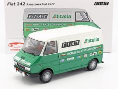 Fiat 242 van Rallye Assistance Lancia Team 1977 green / white 1:18 Laudoracing Models