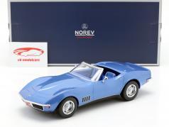 Chevrolet Corvette Convertible year 1969 blue metallic 1:18 Norev