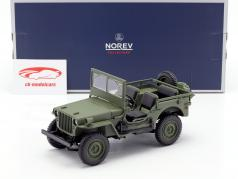 Jeep Willys year 1942 olive green 1:18 Norev