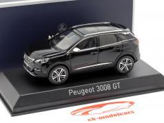 Peugeot 3008 GT Baujahr 2016 schwarz 1:43 Norev