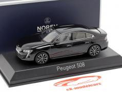 Peugeot 508 year 2018 black 1:43 Norev
