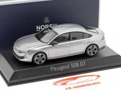 Peugeot 508 GT ano de construção 2018 artense cinza 1:43 Norev