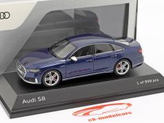 Audi S8 (D5) Limousine Baujahr 2019 navarra blau metallic 1:43 Jada Toys