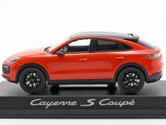 Porsche Cayenne S coupe Bouwjaar 2019 oranje 1:43 Norev
