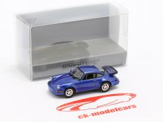 Porsche 911 Turbo (964) Baujahr 1990 blau metallic 1:87 Minichamps