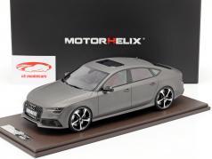 Audi RS7 Sportback Performance ano de construção 2016 aborrecido cinza 1:18 MotorHelix