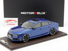 Audi RS7 Sportback Performance Baujahr 2016 sepang blau 1:18 MotorHelix