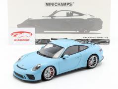 Porsche 911 (991 II) GT3 Touring year 2018 blue 1:18 Minichamps