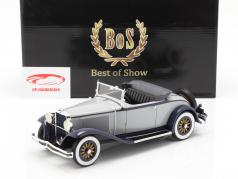 Dodge Eight DG Roadster Convertible year 1931 grey-dark blue 1:18 BoS-Models