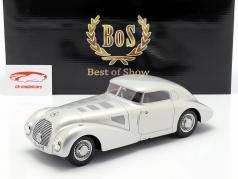 Mercedes 540K carro aerodinâmico ano de construção 1938 prata 1:18 BoS-Models