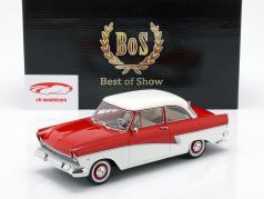 Ford Taunus 17M P2 Opførselsår 1957 rød / hvid 1:18 BoS-Models
