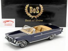 Chrysler 300 H Cabrio ano de construção 1962 Escuro azul metálico 1:18 BoS-Models