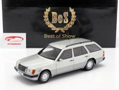 Mercedes-Benz 300 TE S124 ano de construção 1990 prata 1:18 BoS-Models