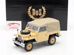 Land Rover Leightweight Series IIA Softtop RHD ano de construção 1968 bege 1:18 BoS-Models