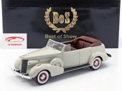 Buick Roadmaster 80-C Four Door Phaeton Cabrio ano de construção 1973 cinza claro 1:18 BoS-Models