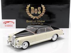 Mercedes-Benz 300 B Pininfarina Baujahr 1955 creme / dunkelbraun 1:18 BoS-Models