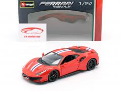 Ferrari 488 Pista year 2018 red 1:24 Bburago