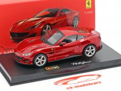 Ferrari Portofino year 2018 red metallic 1:43 Bburago Signature