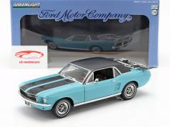 Ford Mustang Ski Country Special year 1967 turquoise 1:18 Greenlight
