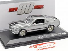 Ford Mustang Eleanor 1967 Movie Gone in 60 seconds (2000) silver metallic 1:43 Greenlight