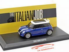 Mini Cooper S anno di costruzione 2003 film The Italian Job (2003) blu / bianco 1:43 Greenlight