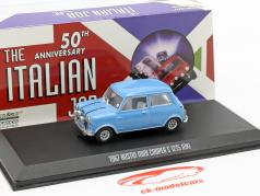 Austin Mini Cooper S 1275 MK1 1967 filme The Italian Job (1969) azul 1:43 Greenlight