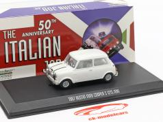 Austin Mini Cooper S 1275 MK1 1967 filme The Italian Job (1969) branco 1:43 Greenlight
