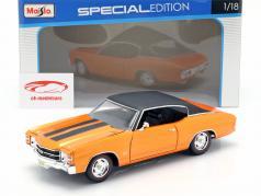 Chevrolet Chevelle SS 454 Sport Coupe 1971 orange metallic / black 1:18 Maisto