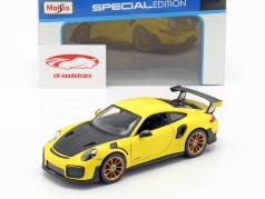 Porsche 911 (991 II) GT2 RS year 2018 yellow / black 1:24 Maisto