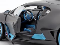 Bugatti Divo año de construcción 2018 estera gris / azul claro 1:18 Bburago