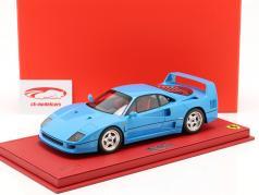 Ferrari F40 year 1987 chiaro blue 1:18 BBR