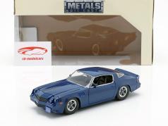 Billy's Chevy Camaro Z28 com moeda de colecção TV-Serie desconhecido coisas azul escuro 1:24 Jada Toys