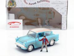 Ford Anglia año de construcción 1959 con Harry Potter figura azul claro 1:24 Jada Toys