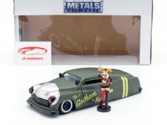 Mercury anno di costruzione 1951 con Harley Quinn DC Comics oliva verde / argento 1:24 Jada Toys