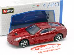 Corvette Stingray year 2014 dark red metallic 1:43 Bburago