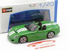 Shelby Series One verde metálico / branco 1:43 Bburago