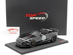 Jaguar F-Type Project 7 year 2015 black 1:18 TrueScale