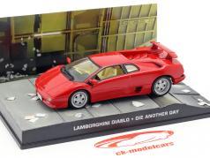 Lamborghini Diablo James Bond Movie Car Stirb an einem anderen Tag rot 1:43 Ixo