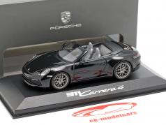 Porsche 911 (992) Carrera 4 Cabriolet schwarz 1:43 Minichamps