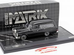 Mercedes-Benz 220SE (W111) Pollmann Hearse year 1966 black 1:43 Matrix