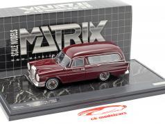 Mercedes-Benz 220SE (W111) Pollmann Hearse Baujahr 1966 dunkelrot 1:43 Matrix