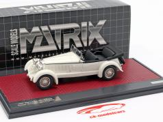 Mercedes-Benz 680S Tourer Sindelfingen Open Bouwjaar 1927 wit 1:43 Matrix