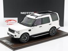 Land Rover Discovery IV year 2016 white 1:18 MotorHelix