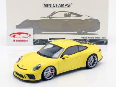 Porsche 911 (991/2) GT3 Touring Baujahr 2018 gelb 1:18 Minichamps