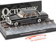 Mercedes-Benz 250SE James Bond-film Octopussy zwarte auto 1:43 Ixo