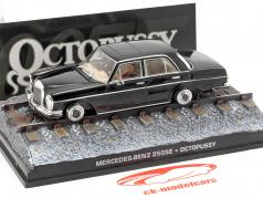 Mercedes-Benz 250SE James Bond filme Octopussy carro preto 1:43 Ixo