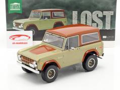 Ford Bronco ano de construção 1970 série de TV Lost (2004-2010) marrom 1:18 Greenlight