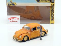 Volkswagen VW Beetle Bumblebee med Charlie figur Transformers 1:24 Jada Toys