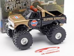 Chevrolet K-10 Gulf Super Special Monster Truck 1971 preto / ouro 1:43 Greenlight