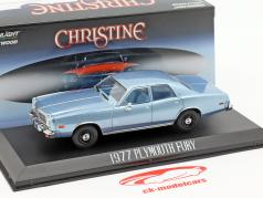 Plymouth Fury 1977 filme Christine (1983) azul claro metálico 1:43 Greenlight